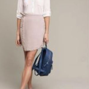 Cloth & Stone Textured Frayed Wrap Skirt Anthro